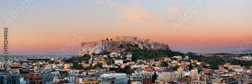 Athens skyline rooftop panorama sunset
