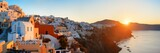 Santorini skyline sunrise - 190244281