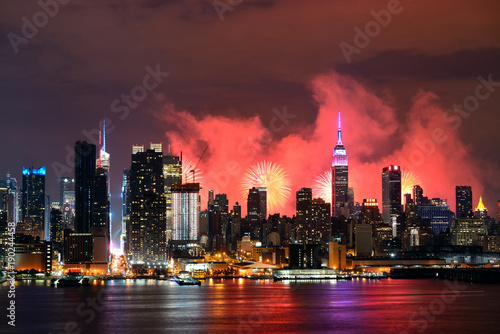 Foto op Canvas New York New York City Fireworks