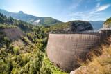 Beautiful view of memorial site at Vajont Dam, Veneto, Italy - 190245840