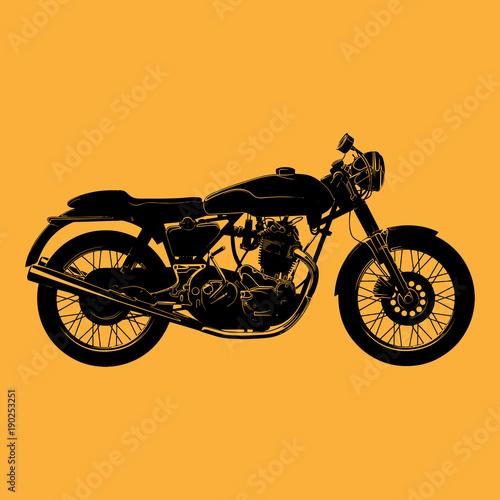 cafe-racer-motocicleta-vector