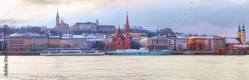 Fotobehang Boedapest Budapest skyline panoramic view from Danube river, Hungary, Europe