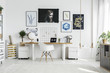 White chair in home office
