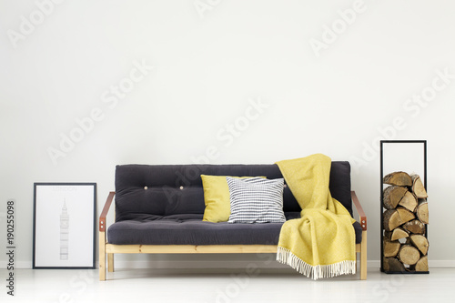 Yellow simple living room