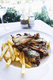 juice roasted lamb chops on the table - 190256842