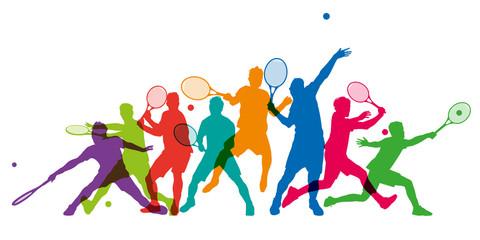 Tennis - tennisman - silhouette - sportif - match - compétition - tournois - balle - champion - raquette
