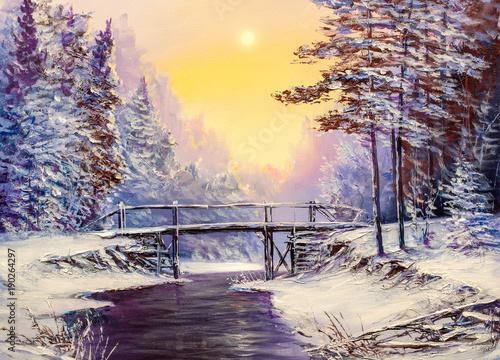 white-bridge-over-the-river-winter-landscape