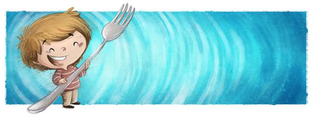 niño con tenedor  © cirodelia