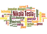 Nikola Tesla word cloud concept 2