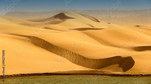 Foto op Canvas Meloen Dunes & oued