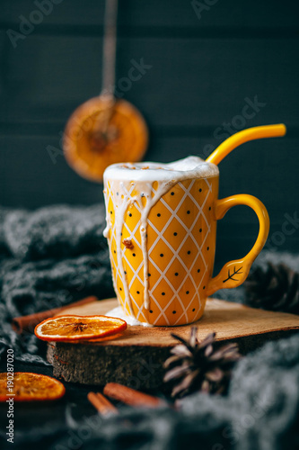 Foto op Canvas Chocolade Cup of hot chocolate