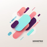 Abstract geometric background. Vector illustration. - 190290439