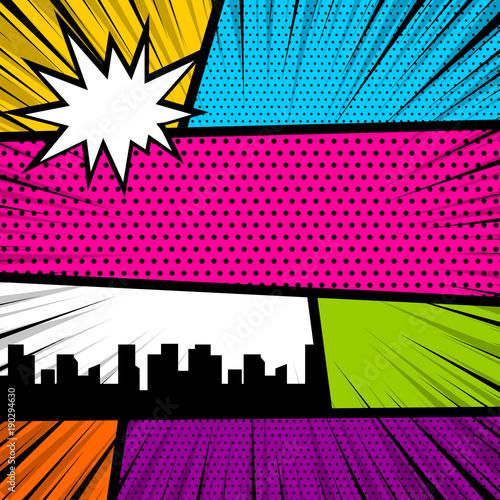 kreskowka-zabawny-vintage-pasek-komiks-miasta-widok-pusta-grafika-humor-szablon-okladki-magazynu-ksiazki-komiksu-pop-art-text-dymek-balon-wiadomosci-box-wybuch-bomby-wektor-kolorowych-ilustracji-poltonow