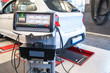 car diagnostic / exhaust gas measurement at a diagnostic station in a passenger car