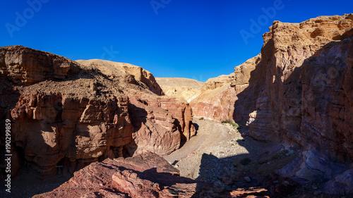 Fotobehang Diepbruine Red Canyon, Eilat, Israel