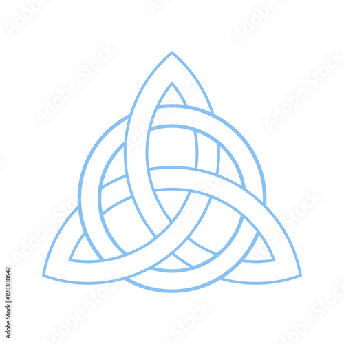 Triquetra Trinity Or Celtic Knot Isolated Vector Symbol Trinity