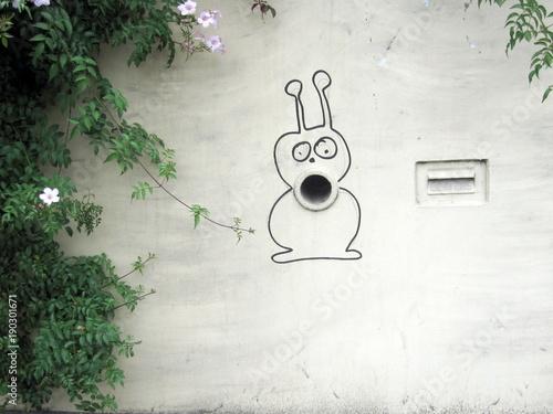 In de dag Graffiti Straßenkunst