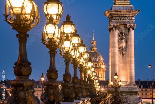 Sticker Invalidendom und Pont Alexandre III in Paris, Frankreich