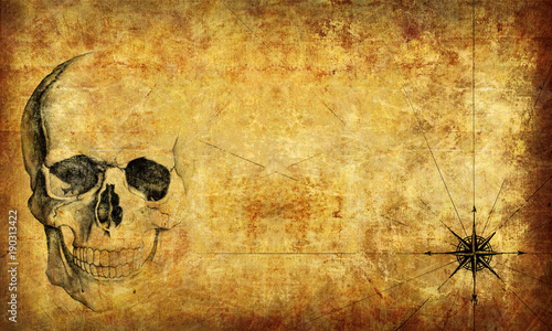 pirate map Wallpaper, texture. 3d rendering.