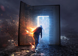 Man on fire and Bible - 190313860