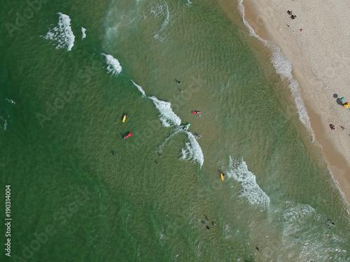 Aluminium Rio de Janeiro Drone photo of Barra da Tijuca beach, Rio de Janeiro, Brazil.