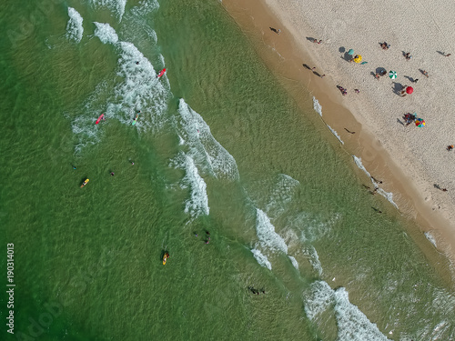 Deurstickers Rio de Janeiro Drone photo of Barra da Tijuca beach, Rio de Janeiro, Brazil.