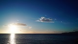 Scenic sunrise sun rising over sea surface, Greece Peloponnese, time lapse - 190314446