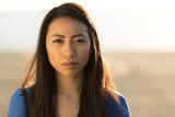 Young Asian woman serious face  - 190317297