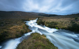 The bogs of Donegal in the rain, Ireland.