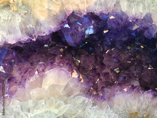 Fioletowy Ametyst Geode Kamień Tle