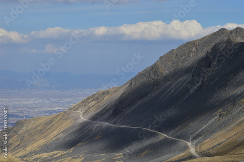 Fotobehang Grijs Montaña