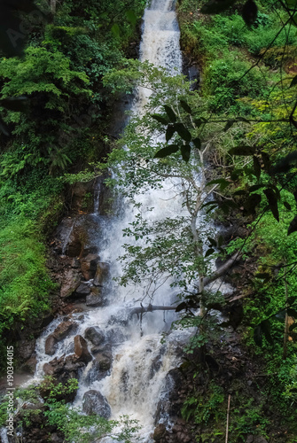 Fotobehang Zomer Waterfall. Africa. Kenya