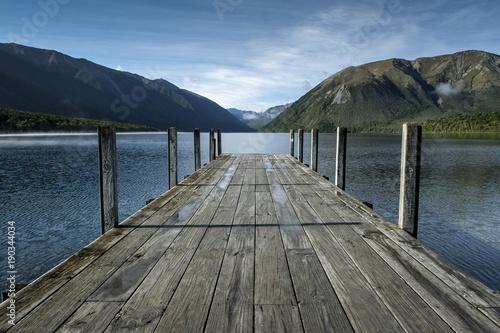 Plexiglas Pier Lake Rotoiti, New Zealand