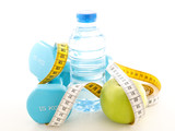 apple, water and dumbbell