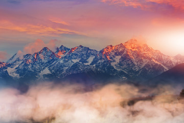 beautiful and colorful view of the Tatra mountains