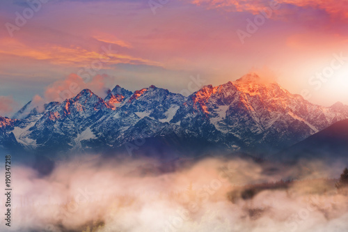 Fotobehang Landschappen beautiful and colorful view of the Tatra mountains