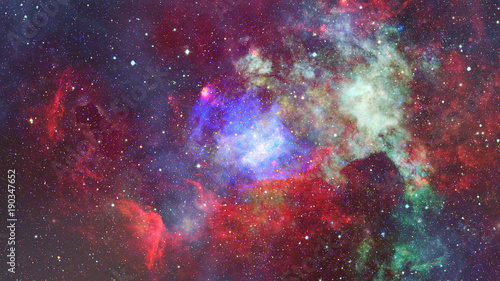 Nebula and galaxy in space. Elements of this image furnished by NASA. - 190347652