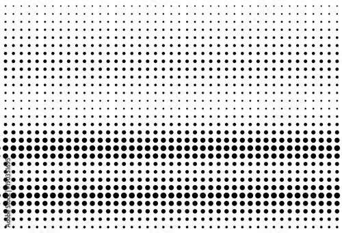 Fotobehang Pop Art Halftone background. Digital gradient. Dotted pattern with circles, dots, point large scale.