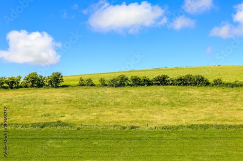 Fotobehang Blauw Sussex Landscape