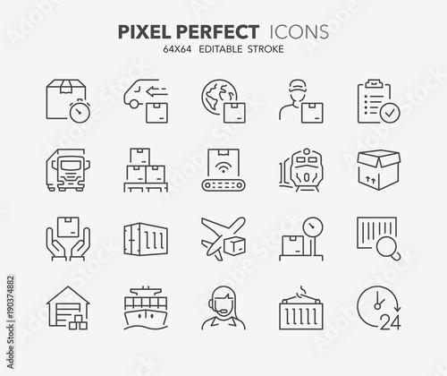 logistyka cienkich linii ikon