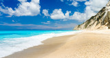 The famous Egremni beach (Lefkada,Greece) - 190375851