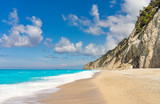 Egremni beach at Lefkada, Ionion sea, Greece - 190375871