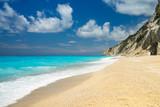 Egremni beach at Lefkada, Ionion sea, Greece - 190375891
