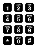 Telephone Numbers vector icon