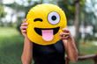 Woman Showing a Funny Emotion Face