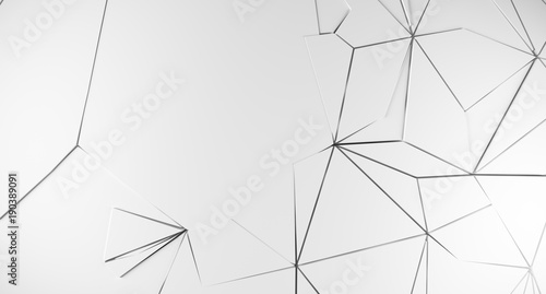 3D Rendering Of Abstract Shattered Background