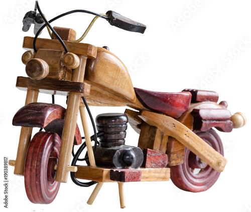 Fotobehang Fiets Toy Wooden bike
