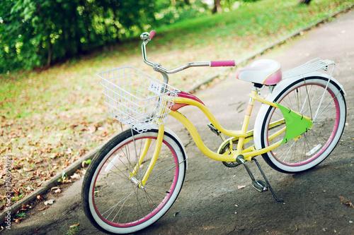 Fotobehang Fiets Funny Bike in the park