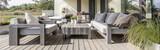 Wooden terrace in residence - 190395279