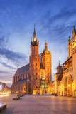 St Mary s Church at Main Market Square in Cracow, Poland - 190398258